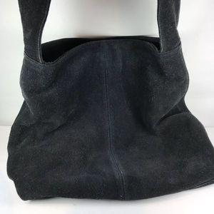 Vintage Black Suede shoulder bag